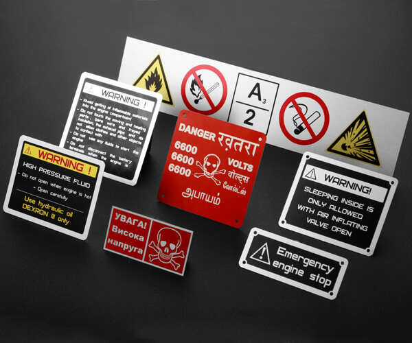 WARNING, CAUTION & SAFETY LABELS